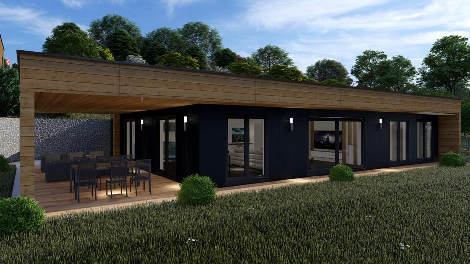 maison à ossature bois dans le haut-rhin