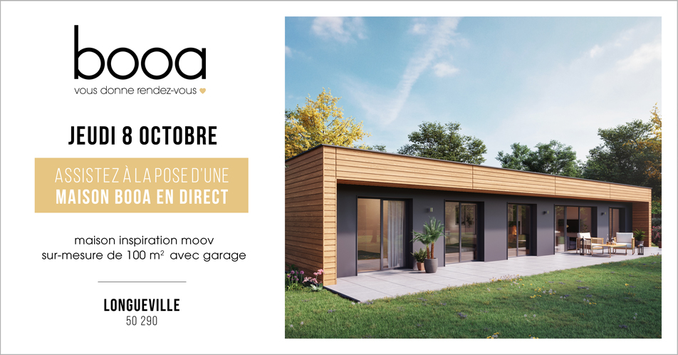 pose maison booa en direct longueville