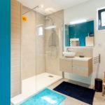 salle de bain dans une maisons à ossature bois