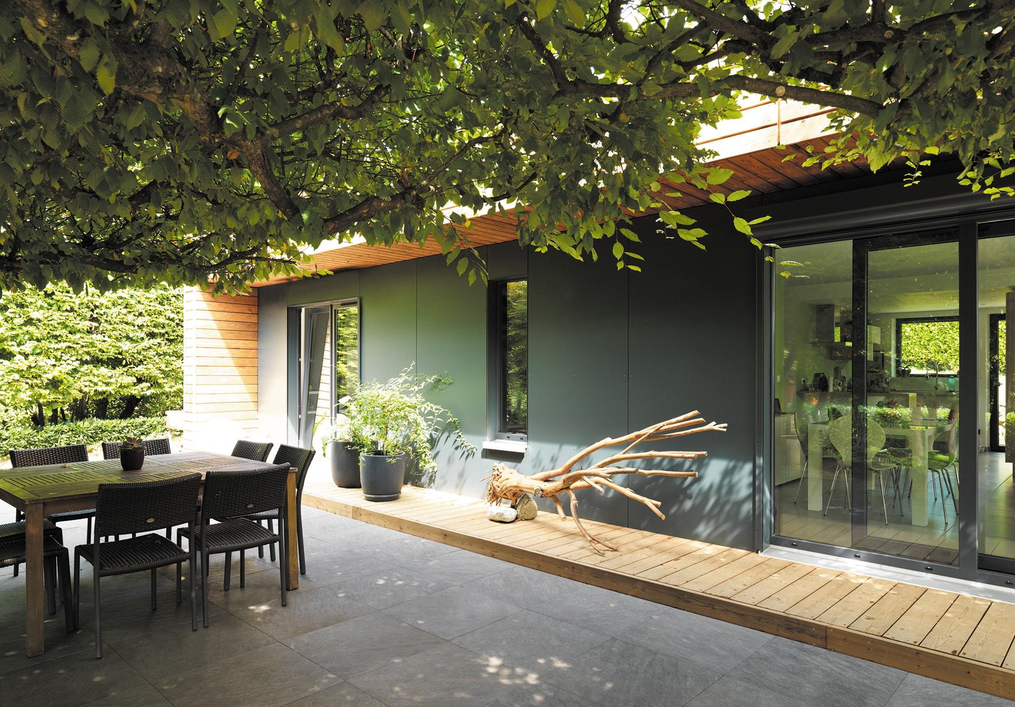 maison bois de plain-pied