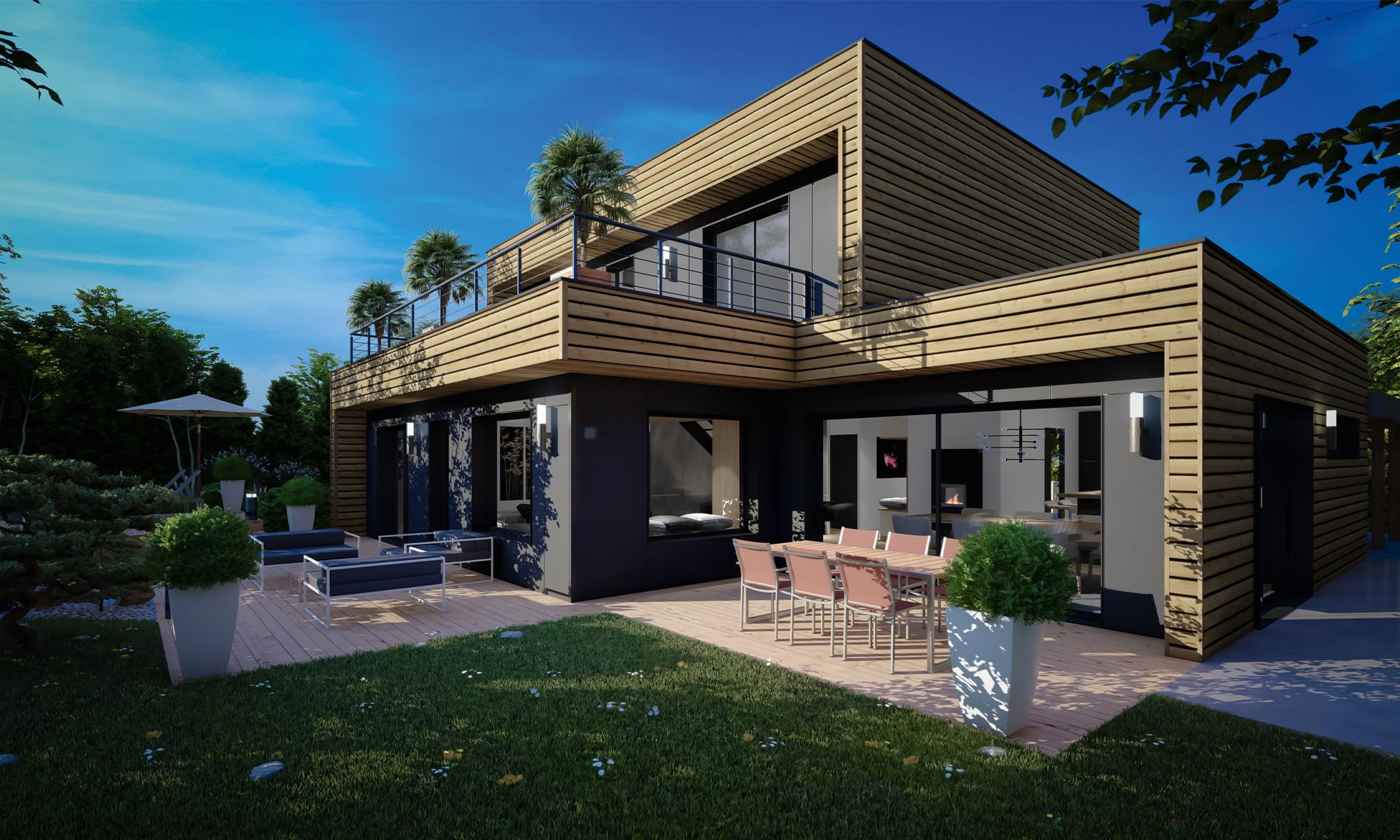 maison 100% sur-mesure à ossature bois