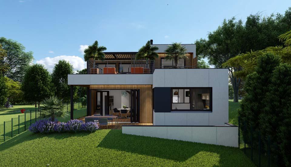 projet d'un maison à ossature bois
