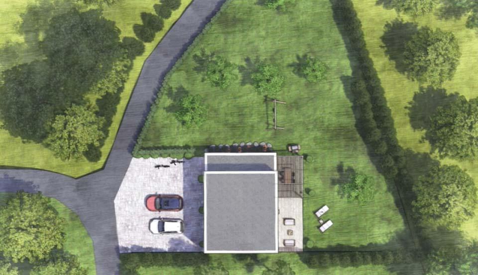 plan d'implantation d'un maison bois